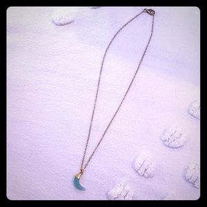Pretty turquoise and gold necklace